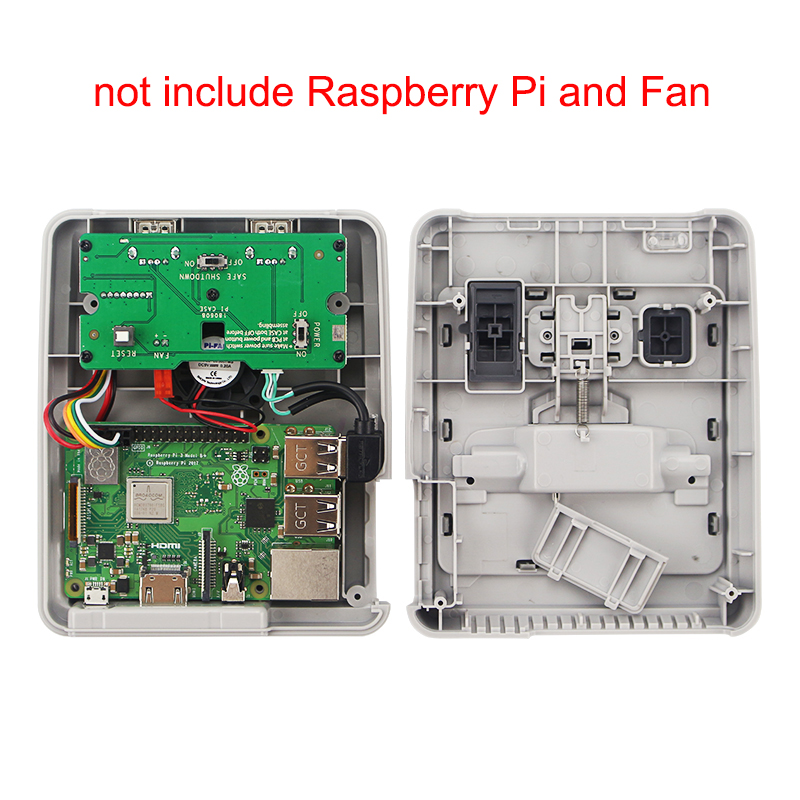 Image 5 - Retroflag SUPERPIE CASE J Plastic Box for Raspberry Pi + 32GB SD Card + 3A Power Adapter + HDMI + Fan + Heat Sink for RPI 3B+Demo Board Accessories   -