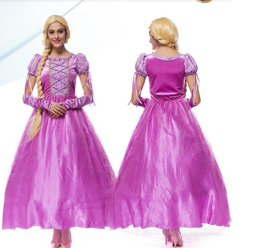 Free Shipping,Adult Women Children Girl Purple Tangled -4643