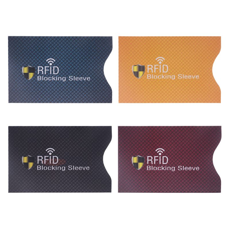 5PCS Anti Theft for RFID Credit Card Protector Blocking Sleeve Skin Case