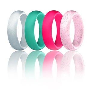 Image 2 - 1PC 5.7MM Silicone Ring Solid Black Red Blue Couples Rubber Food Grade Antibacterial Hypoallergenic FDA Sport Finger Rings Gift