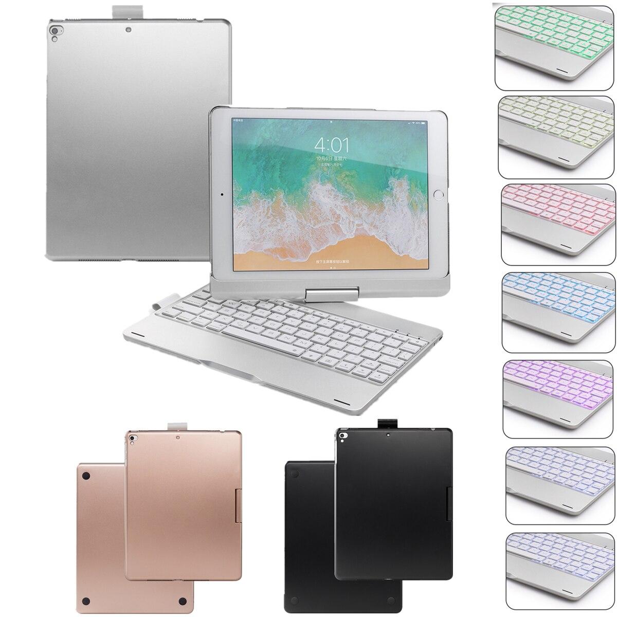 Pour 2018 nouveau iPad 2017 nouveau iPad 9.7 iPad Pro iPad Air 2 1 rotation 360 degrés Design étui pour tablette avec USA BT clavier sans fil