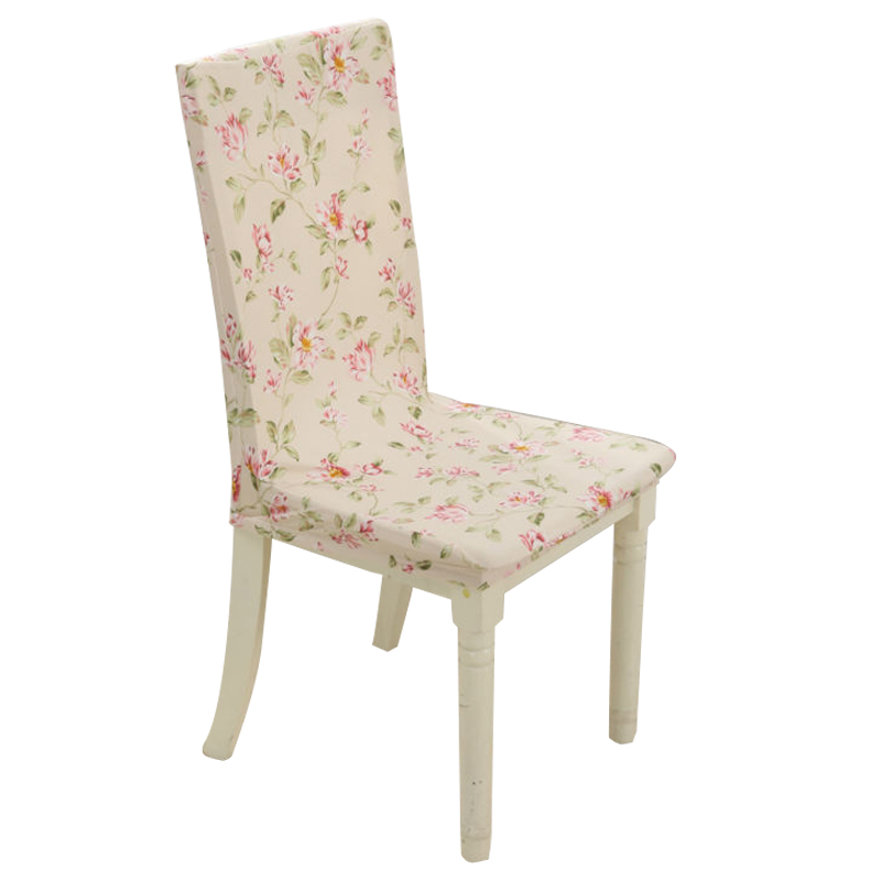Floral Style Pattern Multifunctional Chair Cover Hotel Wedding Banquet Chair  Cover Stretch Elastic Spandex Polyester Cloth