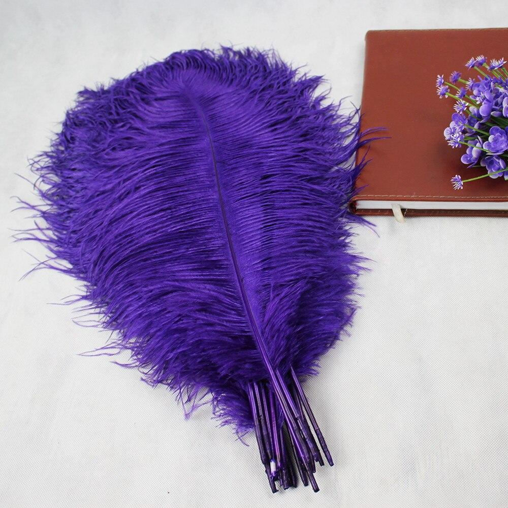 HOT Free shipping 50pcs lot 50 55cm 20 22 purple ostrich feather Plume wedding decoration purple