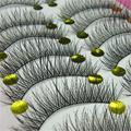 Bluefrag natural falsas pestañas 10 pares manera hecha a mano suave largo grueso ojo pestañas cilios posticos pestañas barato envío rápido