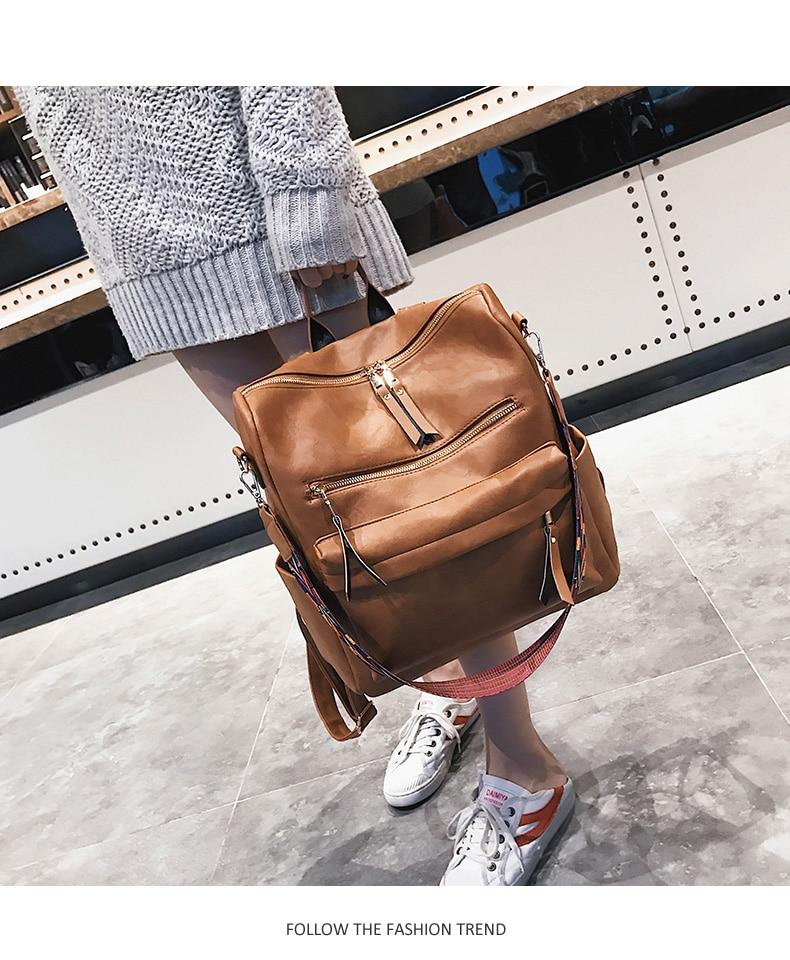HTB1.vipasnrK1RjSspkq6yuvXXaU Retro Large Backpack Women PU Leather Rucksack Women's Knapsack Travel Backpacks Shoulder School Bags Mochila Back Pack XA96H