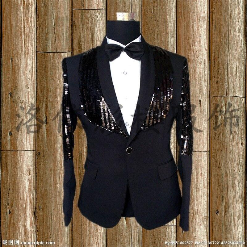 Traje Moda S Hombre Style Plus 1 Trajes style 2019 2 Formal Chaqueta Slim  5xl Negro Tamaño Ropa Nueva Cantante Lentejuelas Escenario De Vestido  PCPYrqw e74760d602d
