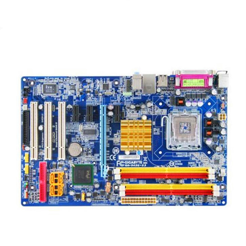 For Gigabyte GA-945G-S3 Original Used Desktop 945 Motherboard 945G-S3 Socket 775 DDR2 SATA2 USB2.0