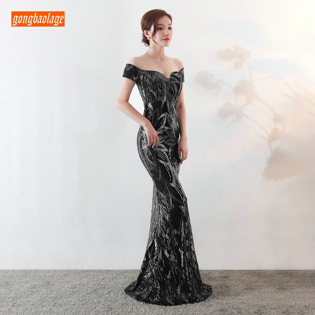 Sumptuous Mermaid Prom Dresses Women Party 2019 Reflective Dress Prom Sequined Special Occasion Dresses Formal Gowns Real Photos 3