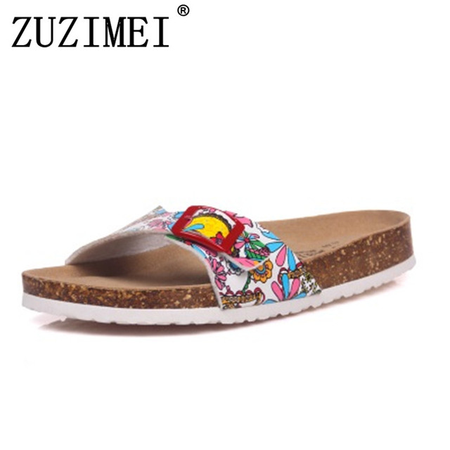 e6ea125a65b0 New 2018 Slides Summer Style Shoes Womens Orthotic Sandals Cork Slippers  Slip-on Casual Classics