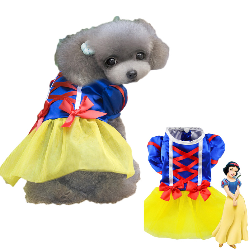 Halloween New Dog Dresses Clothes Cartoon Pet Products Supplies Custume Grid Skirt Clothing Cosplay Dress
