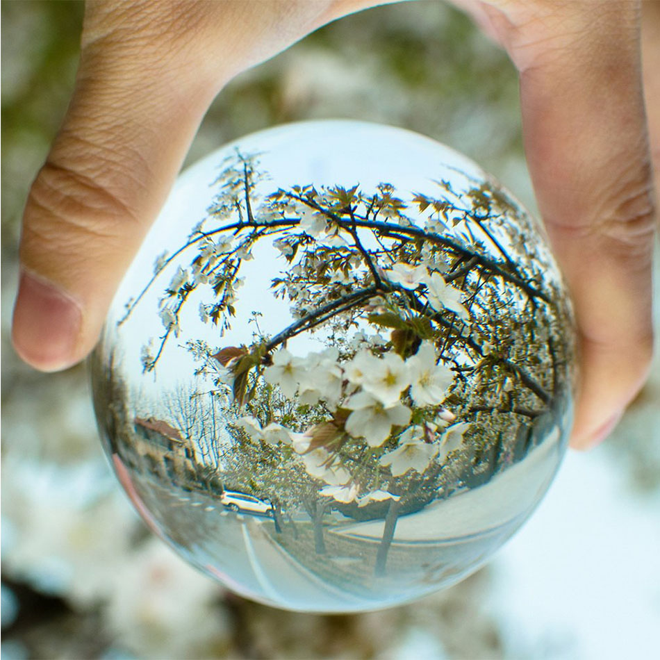 60mm 80mm 100mm Clear Round Glass Artificial Crystal Healing Ball Sphere Decoration T20