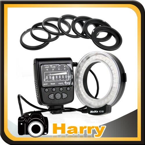 Caméra Meike FC-100 Macro Ring Flash/Lumière pour Nikon D7100 D7000 D5200 D5100 D3200 D3100 D90 D800 D300S D3000 D600 D610