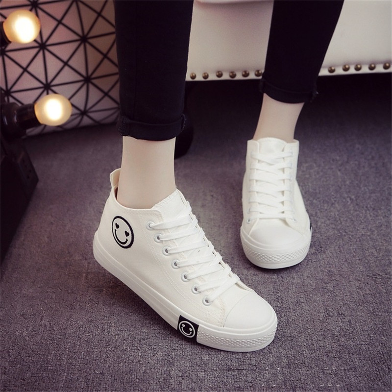2018 Lace-up Women's Vulcanize Shoes Summer Female Fashion Flats Solid Ladies Casual Breathable Canvas Shoes Footwear YLD916 women canvas breathable vulcanize shoes lace up classic fashion white red flats summer spring autumn students school style