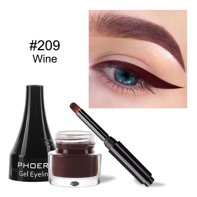 Black Liquid Eyeliner Pencil Cosmetic Waterproof Long Lasting Smooth Careful Eye Liner Pen Makeup Durable Molding Cold Black