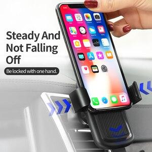 Image 5 - HOCO voiture Qi chargeur sans fil pour iPhone Xs Max XR X 8 Plus Charge rapide sans fil voiture support de montage pour Samsung S9 S8 2018
