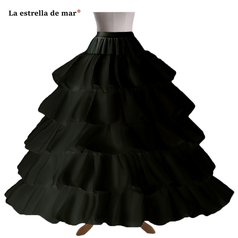 Back To Search Resultsweddings & Events Jupon Mariage Stock A Line Black White Trailing Petticoat High Quality Underskirt Elegant Enaguas Para El Vestido De Boda Petticoats