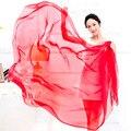 Nova chegada 2016 cor sólida chiffon de seda cachecol primavera e outono mulheres tamanho grande lenço de cor sólida frete grátis