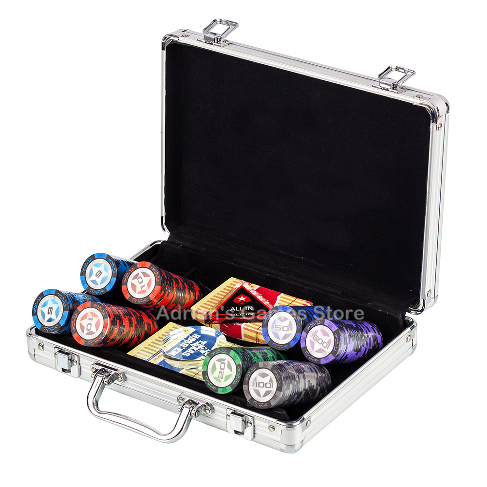 200PCS Poker Chips Set with Dealer&All In&2 Plastic Playing Cards&Suitcase - World Series Wheat Clay Poker Chips 14g 40*3.4mm200PCS Poker Chips Set with Dealer&All In&2 Plastic Playing Cards&Suitcase - World Series Wheat Clay Poker Chips 14g 40*3.4mm