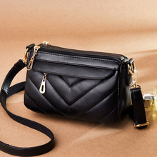 2019 Luxury Crossbody Bags For Women Messenger Vintage Leather Handbags Famous Brand Rivet Small Shoulder Sac