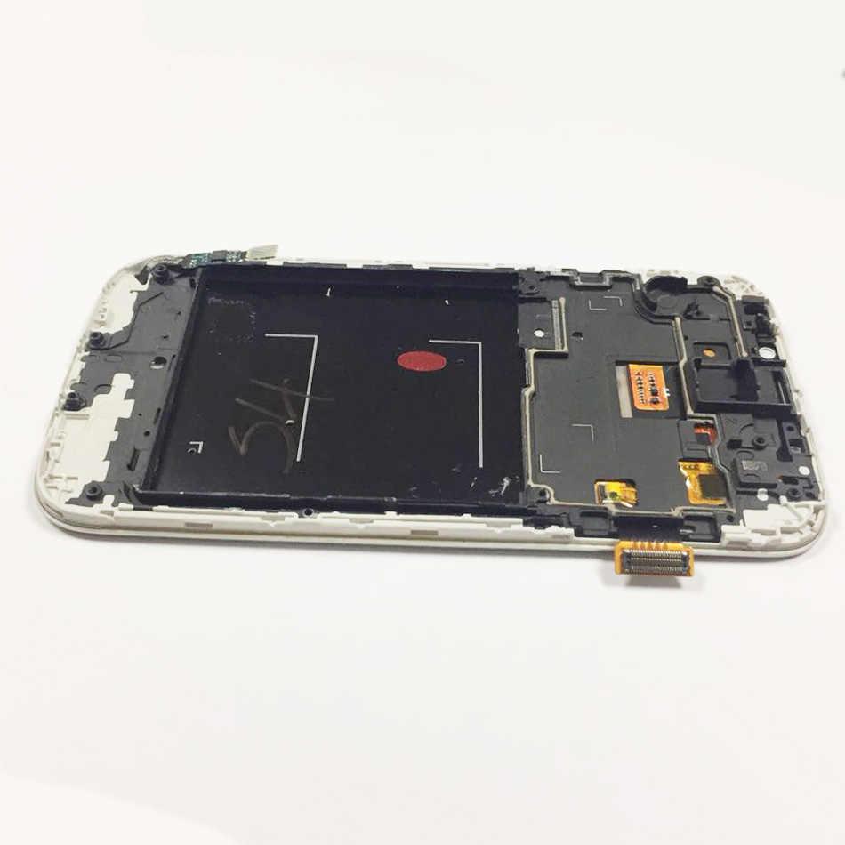 100% جديد TFT I9500 شاشات lcd لسامسونج غالاكسي S4 GT-i9500 i9505 شاشة إل سي دي باللمس شاشة مع محول الأرقام الجمعية مع الإطار