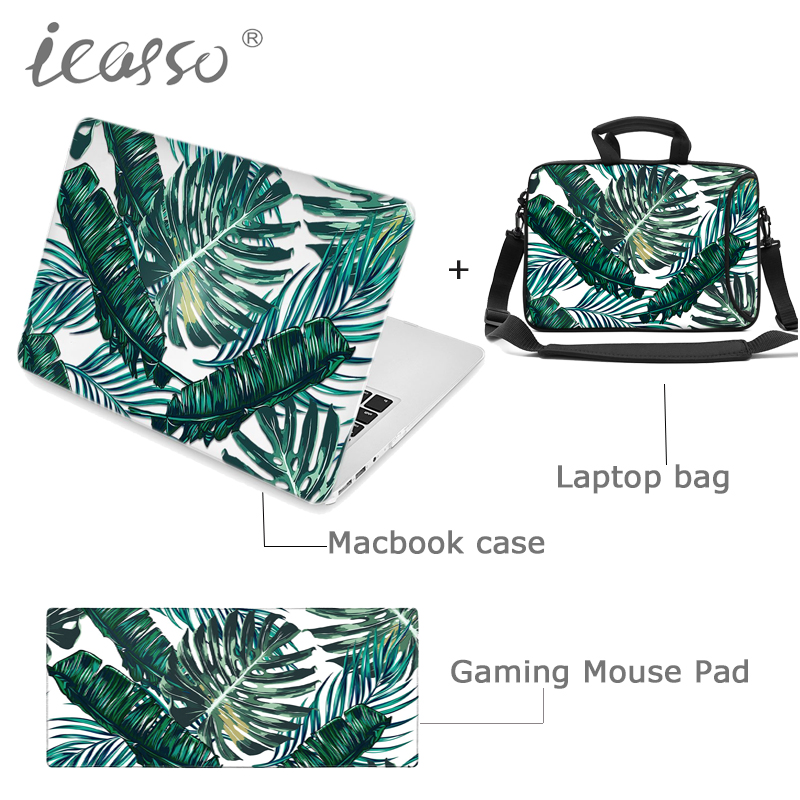 icasso Hard Case cover shell for Macbook Air Pro Retina 13 15 inch macbook case+Laptop sleeve Bag+Large Gaming Mouse Pad Mat new for macbook air pro retina bag case 11 13 14 15 inch laptop bag for macbook case cover notebook protective case sleeve