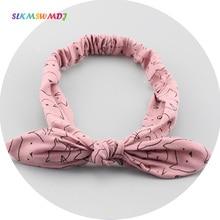 SLKMSWMDJ 1pcs fashion cute baby hair band girls cloth bow hoop accessories childrens headdress 8 colors