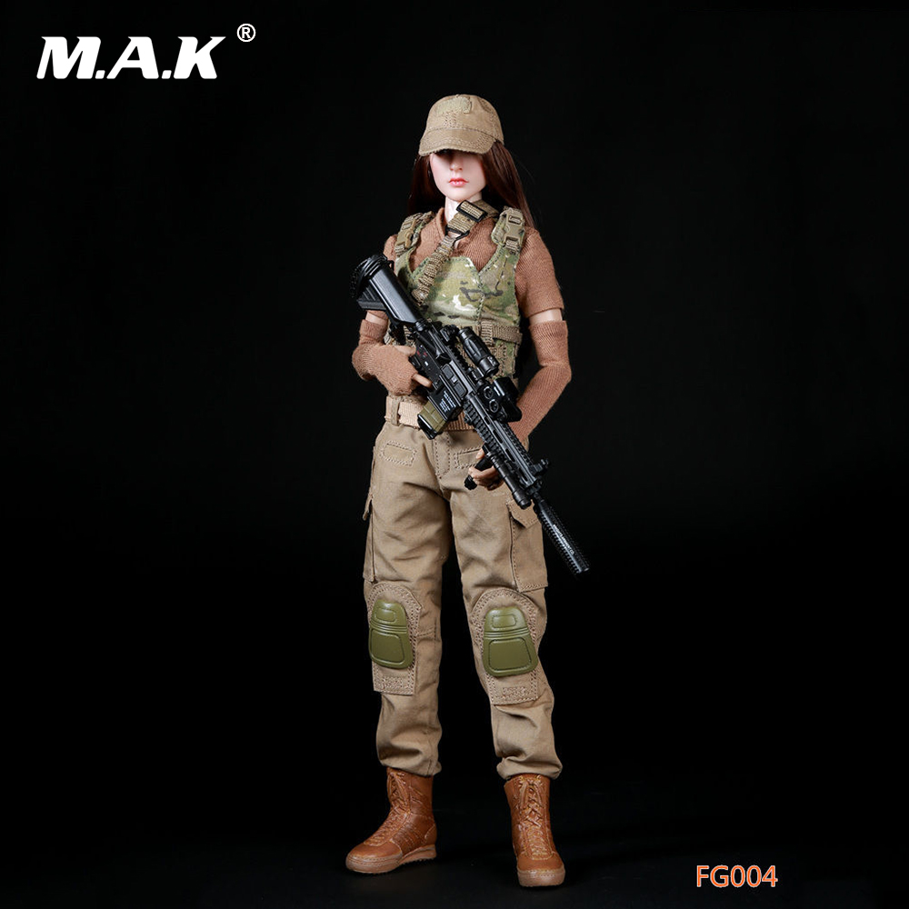 все цены на 1/6 Scale Female Clothes FG004 Military Combat Clothing Suits Custom 12 '' Body Action Figures (without body and head) онлайн