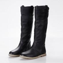 ขนาด34-43 2016แฟชั่นใหม่ผู้หญิงรองเท้าแบนรองเท้าเข่าผู้หญิงสีดำสีขาวสีน้ำตาลสี