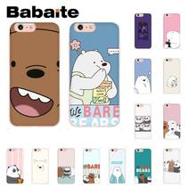 Babaite Cartoon We Bare Bears TPU Soft Silicone Phone Case  for iPhone X XS MAX 6 6s 7 7plus 8 8Plus 5 5S SE XR 10