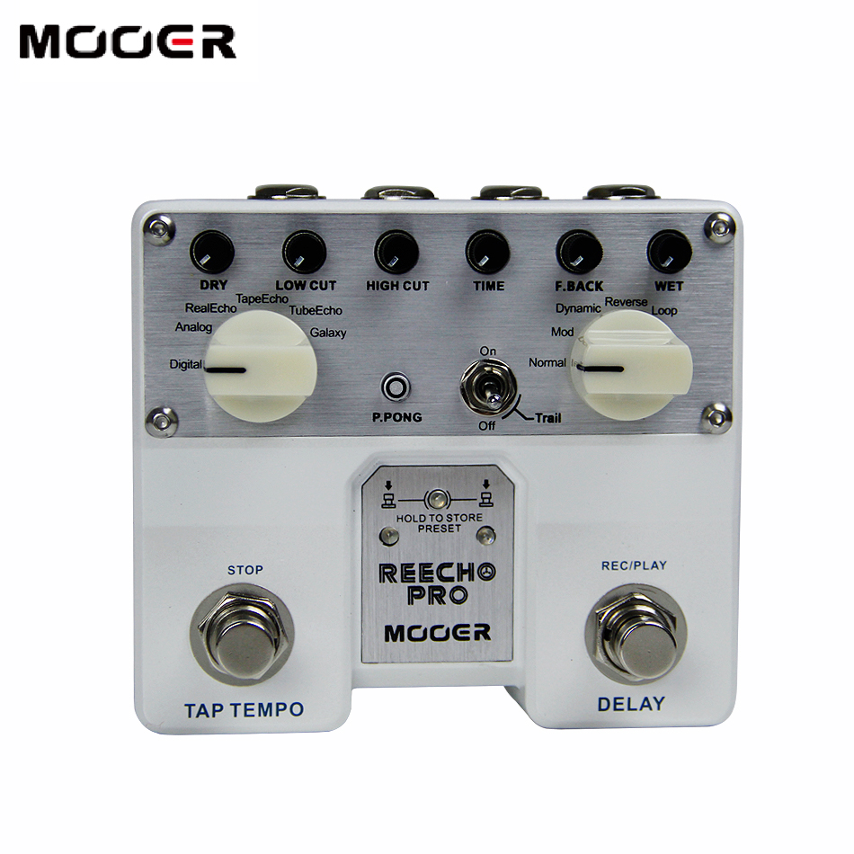 MOOER Twin Series Reecho Pro Digital Guitar Effects Pedal with 6 Delay and 3 Additional Effects / Loop Recording & Tone Saving футболка huf last generation tee black