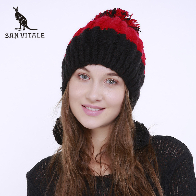 Women'S   Skullies     Beanies   Hats Winter Warm Hats Christmas Clothes Caps Palestine Rick And Morty Fashionable Luxury Brand Cashmere