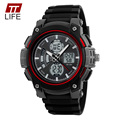 TTLIFE Brand Top Fashion Men Sports Watches Chronograph 50M Waterproof Mens Outdoor Military LED Digital Dual Display Wristwatch