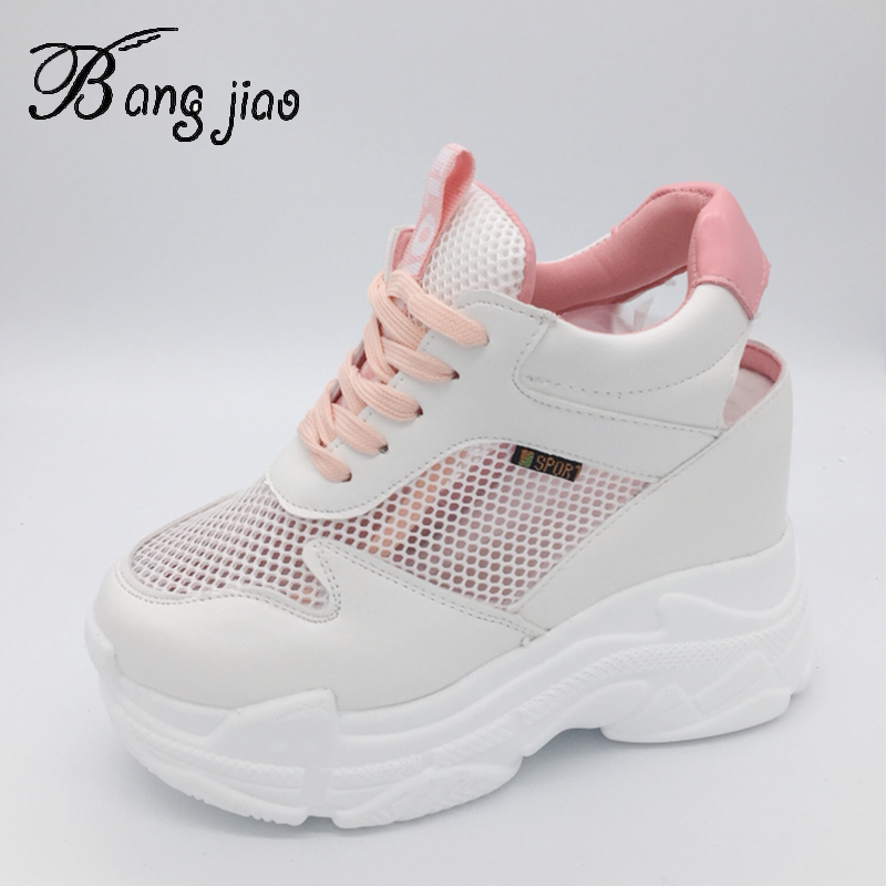 womens shoes wedge heel lace up sneaker sports slip on casual korean fashion new