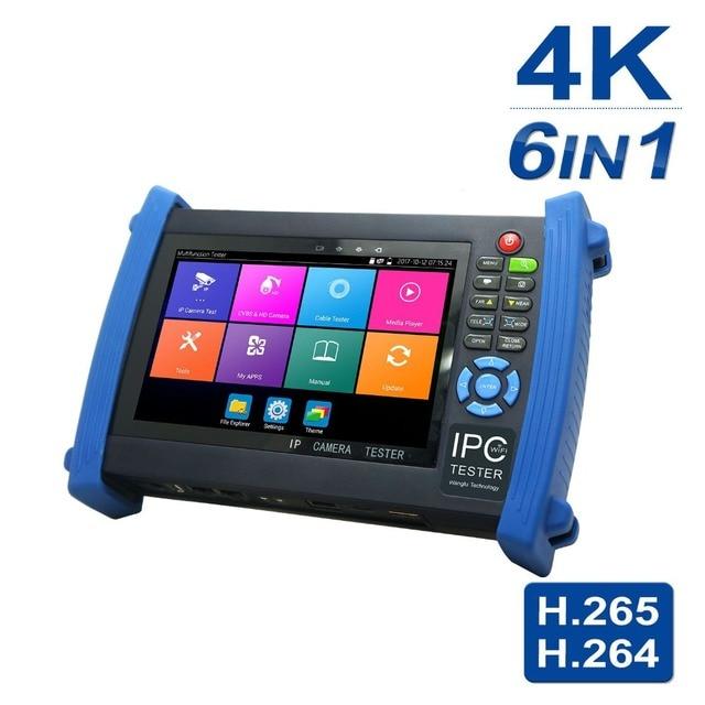 US $514 14 |Anpviz 7 Inch 4K H 265 IP/CVBS/CVI/TVI/AHD 5 in 1 CCTV IP  Camera Tester Monitor 5MP Analog Camera Testing PTZ UTP Cable Tester-in  CCTV