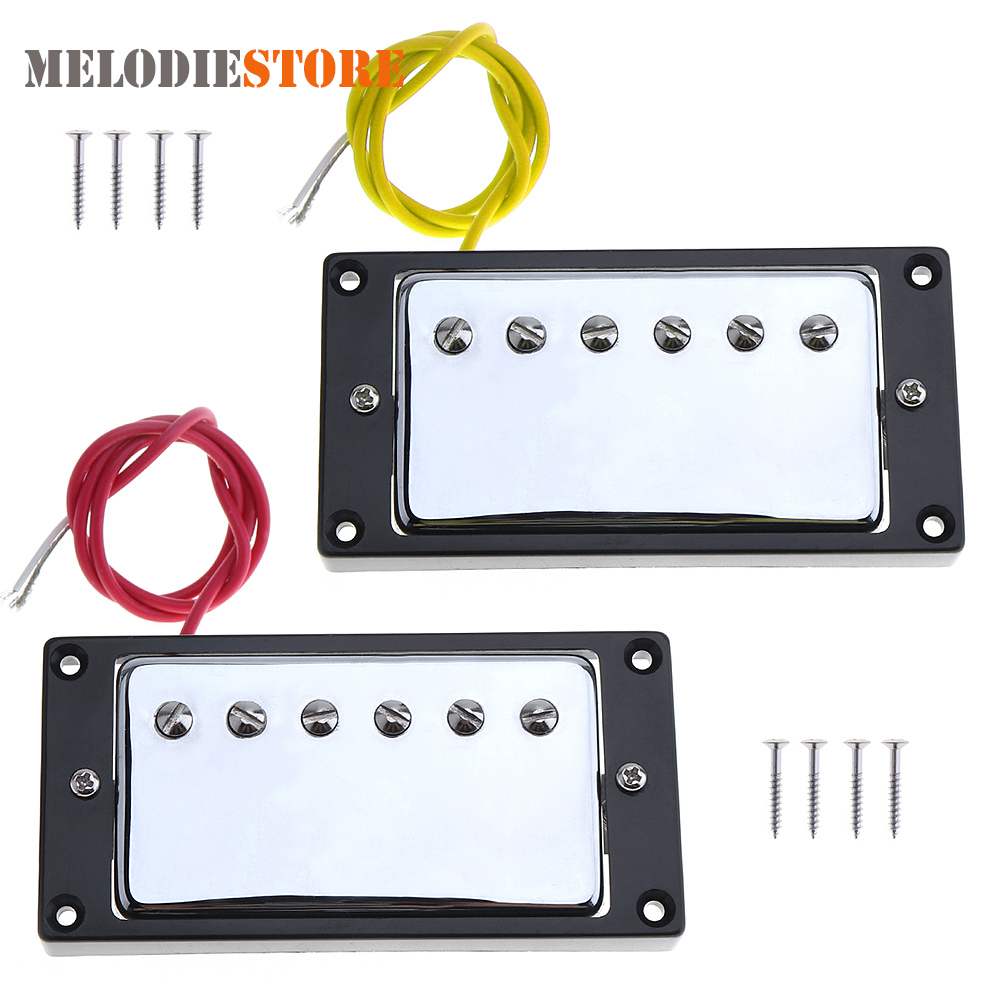 2pcs Guitar Sound Pickup Microphone Amplifier Speaker Dual Pickups with Double Coil for Electric Guitar Parts Accessories belcat bass pickup 5 string humbucker double coil pickup guitar parts accessories black