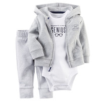 3Pcs Set Baby Rompers Autumn Baby Boy Clothing Cardigan Sets Spring Newborn Baby Clothes Roupa Infant
