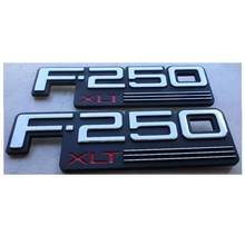 2 pcxabs plástico f250xlt F-250XLT etiqueta do carro emblema emblema emblema emblema emblema emblema