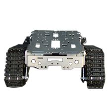 Metal Aluminum Alloy Smart Robot Tank Chassis Kits RC Tracked Car High Quality Intelligent RC Toys for Kids Good Models(China)