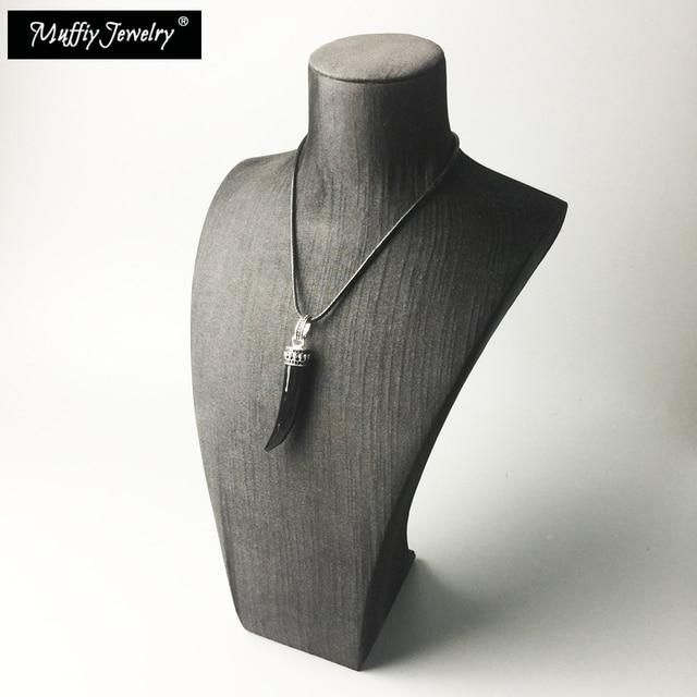 Кожаное ожерелье с тигровым зубцом модные хорошие ювелирные