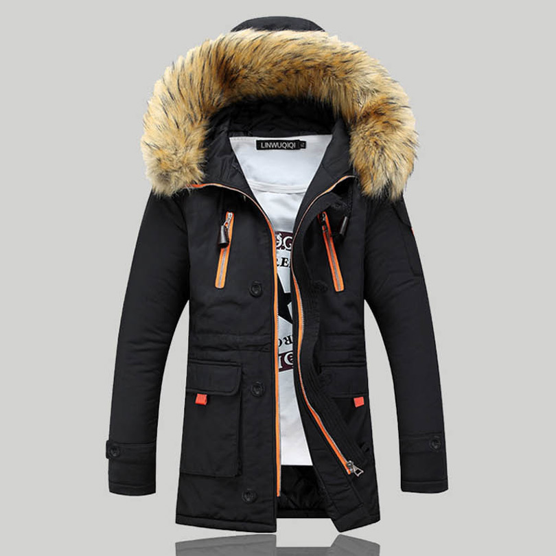 2016 Winter Men's Cotton padded Parka Clothing Thicking Men Anorak ...