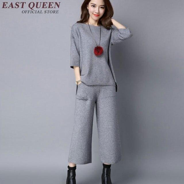 2ae8bfe71 Conjuntos de ropa para mujeres elegantes trajes de pantalón conjunto de ropa  de mujer 2018 trajes