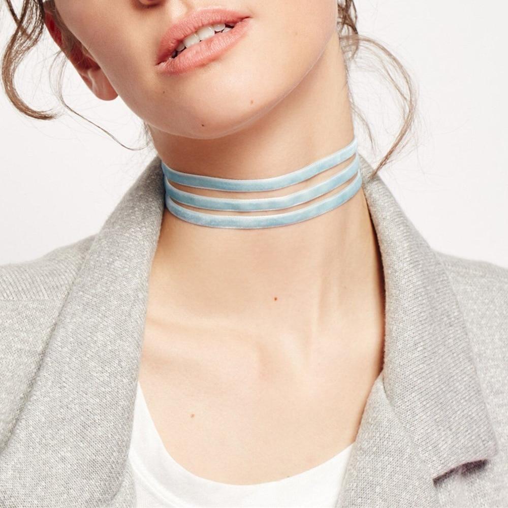 velvet choker neklace women vintage ethnic gargantilla chockers collier boheme ras de cou fashion jewelry