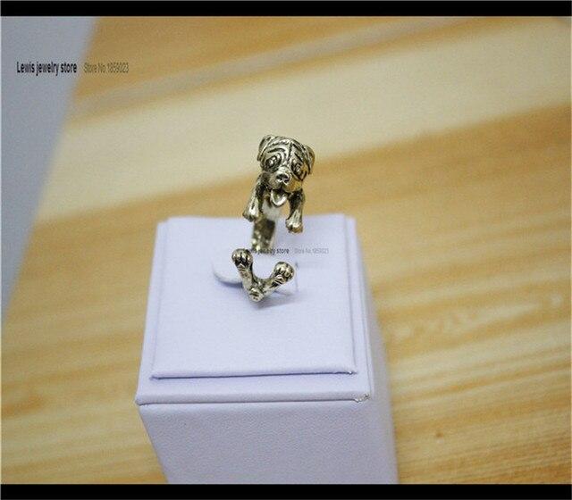 Оптовая продажа регулируемое кольцо в стиле хиппи мопса свободный