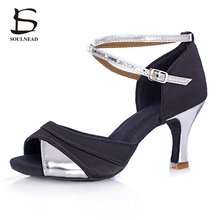 Professional Latin Dance Shoes For Women Samba/Tango/Salsa/Ballroom Daning Shoes  5cm /7cm Heel Adult High Quality Dance Shoes