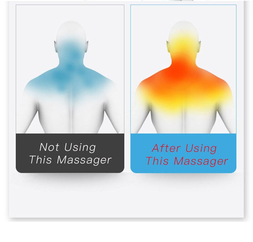 dispositivo de massagem para trás do corpo