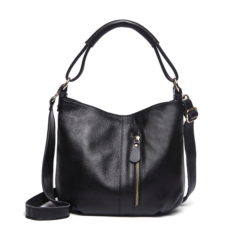 2017 women mom's shoulder bag genuine cow leather casual totes bag handbag purse female ladies messenger/crossbody shopping bag