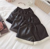 2018 Top Special Offer High Waist Shorts Autumn Winter For Women Pu Leather Shorts Sexy Mini Rivets Decoration Short Feminino