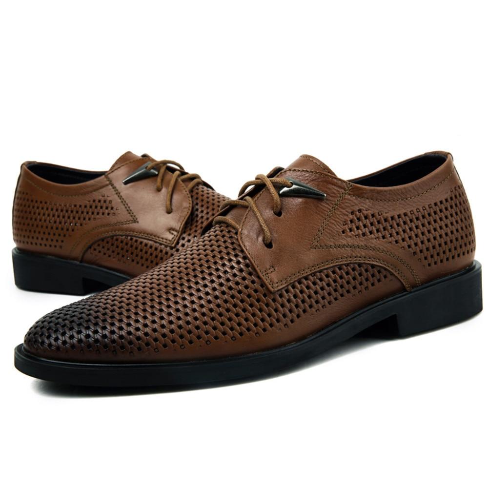 Oscuro Negro Cuero Caqui color De Casuales Zapatos Negocios marrón q8IHBwxC