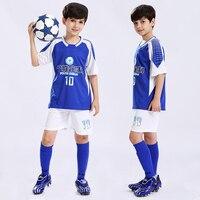 Niños Fútbol traje Niños y niñas entrenamiento uniformes DIY fútbol Sets transpirable