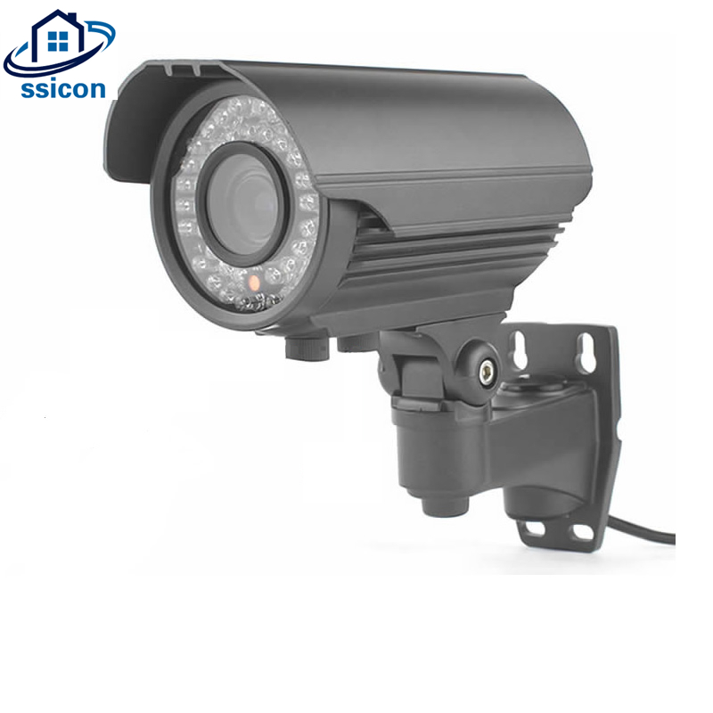 SSICON 2MP Security Outdoor Camera AHD 2.8-12mm Lens Manual Zoom IR Night Vision Infrared 1080P HD Camera